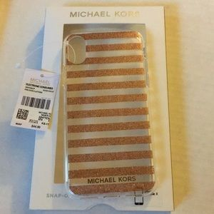Michael Kors Rose Gold iPhone X Case